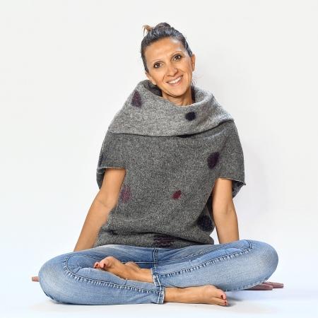 Poncho lana cotta