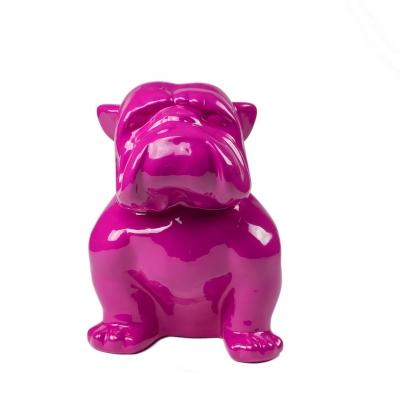 Bulldog magenta lucido 40 cm