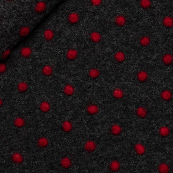 Polka dot bomber antracite-rosso