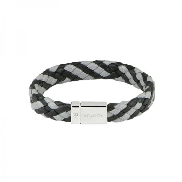bracciale INTRECCIO nero, grigio...