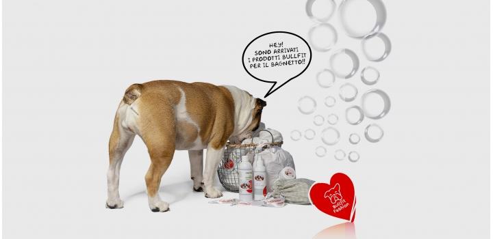 Accappatoio e prodotti igiene bulldog inglese e francese